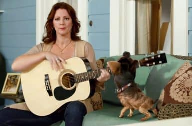 Sarah McLachlan in a dog commercial