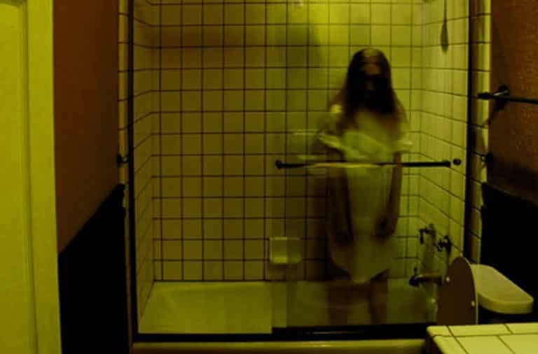 Girl ghost in the bathtub of an apartment