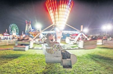 The Scrambler ride at an amusement park