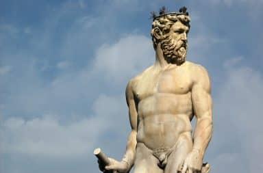 Zeus statue in Firenze