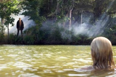 Friday the 13th sequel lake scene