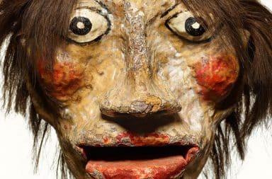 Scary ventriloquist dummy