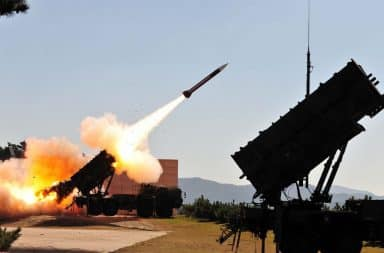 USA Patriot missile test in America