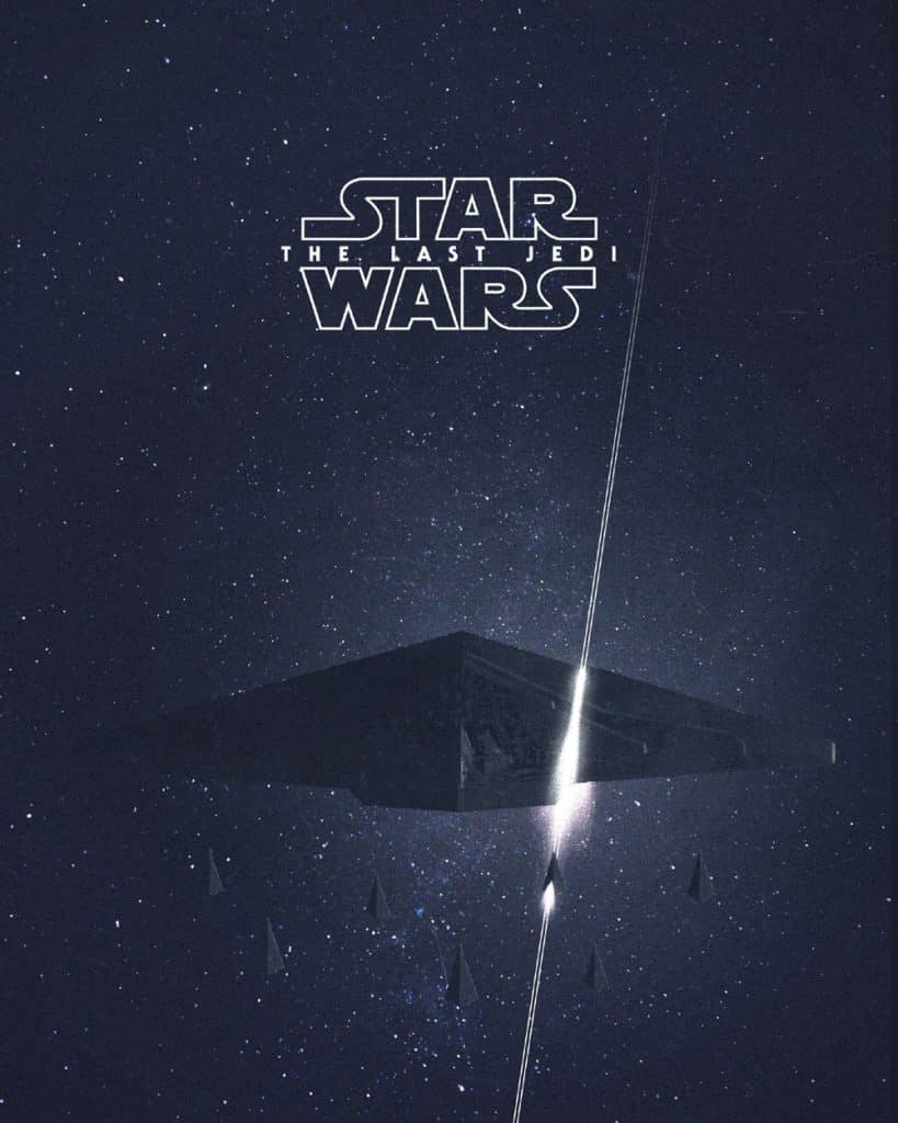 Snoke's ship cut in half movie poster Star Wars