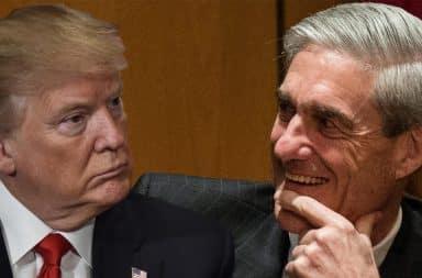 Donald Trump facing Robert Mueller