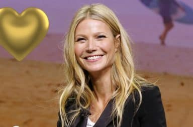 Gwenyth Paltrow gold heart