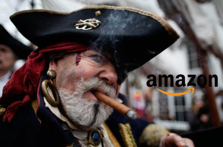 Pirate with hat on Amazon