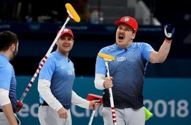USA men's curling Olympic gold medal team 2018