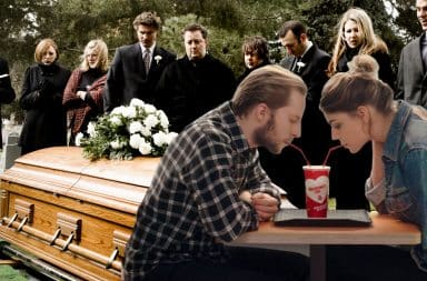 Date at a funeral