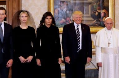Trump with the Pope