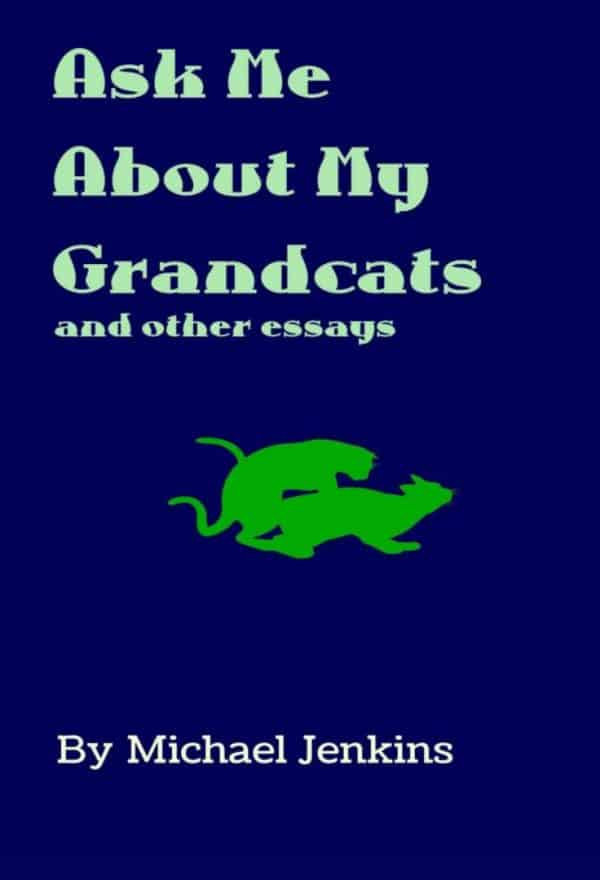 Ask Me About My Grandcats: And Other Essays by Michael Jenkins (book cover)
