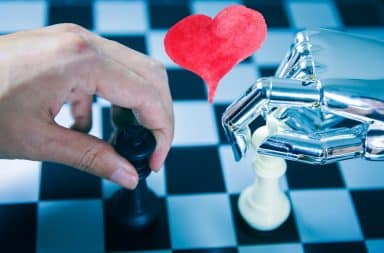 AI chess player love