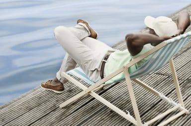 A man who is relaxed