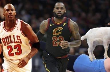 Jordan vs James vs Goat
