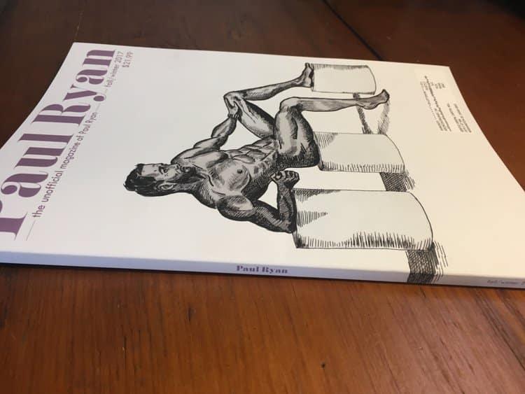 Paul Ryan Magazine (print version on table)