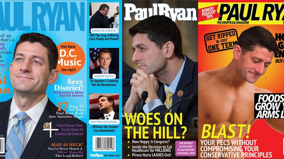 Paul Ryan Magazine satirical front covers