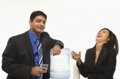 Ha ha! Great chats around the water cooler