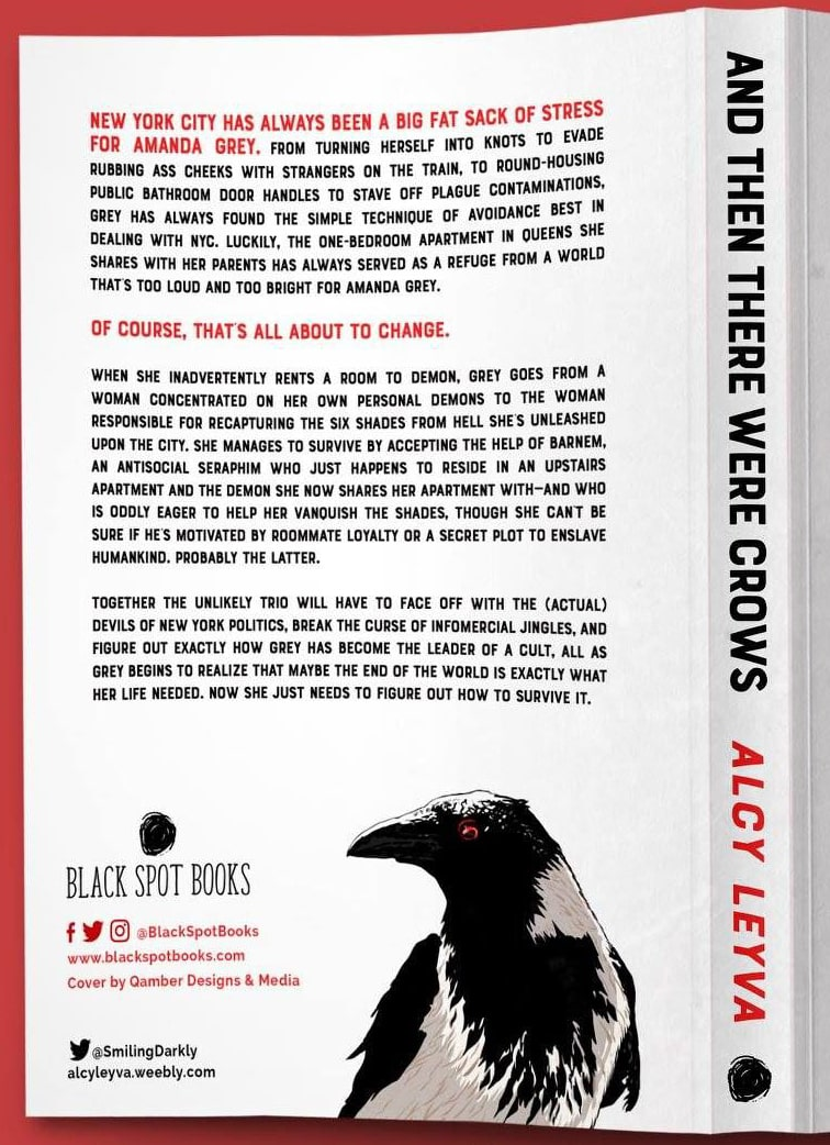 And Then There Were Crows by Alcy Leyva (back cover of book)