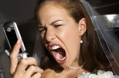 The bride is so angry!!