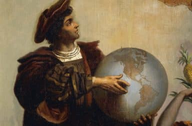chris columbus discovering something