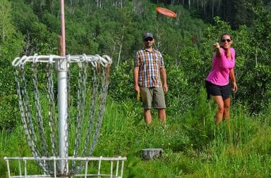 The game of kings, frisbee golf