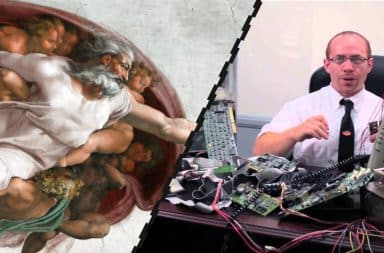 God and the IT guy have a little chat