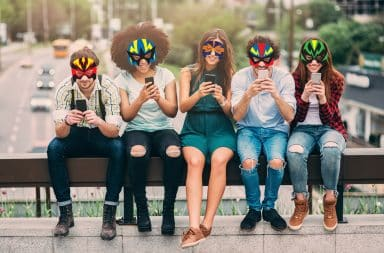 Here they come to save the day! The Millenial Superheroes