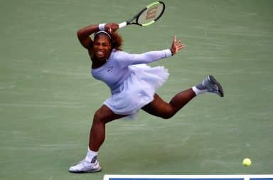 Serena Williams' tutu, dang look at that