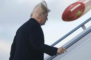 Trump, there's a football!