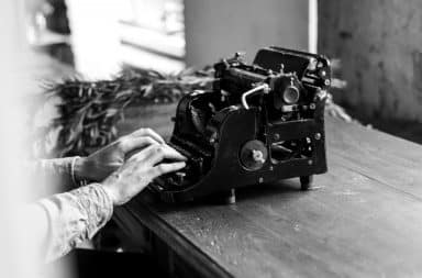 Typewriting the latest very good poem
