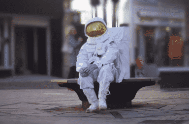 The astronaut is sad because he can't be a bad boy anymore