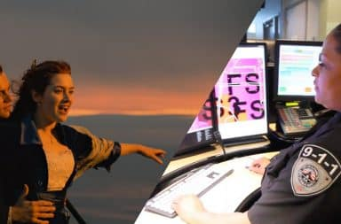 911 operator loves titanic