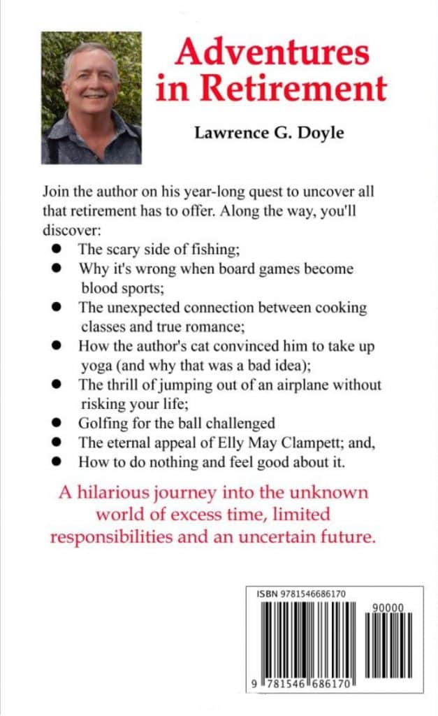 Adventures in Retirement (book back cover)