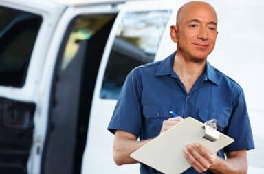 'tis bezos, your knight in sweaty armor