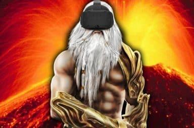 Playing god virtual reality headset