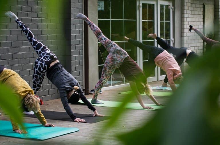 Contemporary female yoga