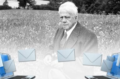 uh oh a problem in the emails and robert frost is there!