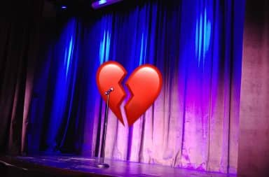 heartbreak at the comedy club, damn it's savage out here