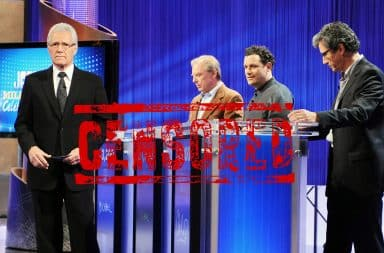 Alex Trebek censored on Jeopardy!