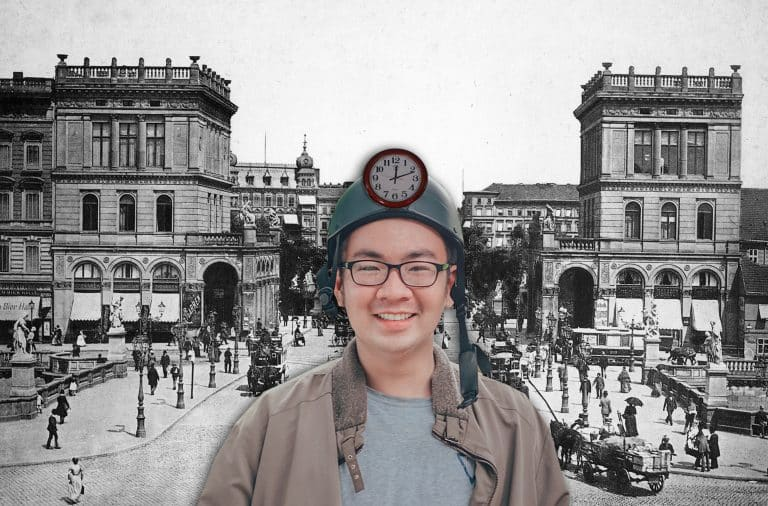 a guy who time travelled to old timey berlin