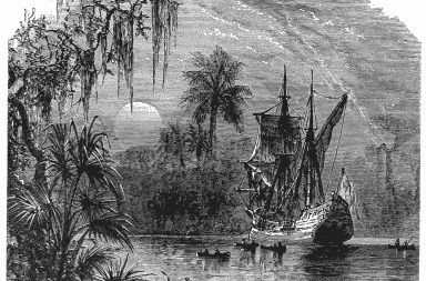 ponce de leon hits the water in florida