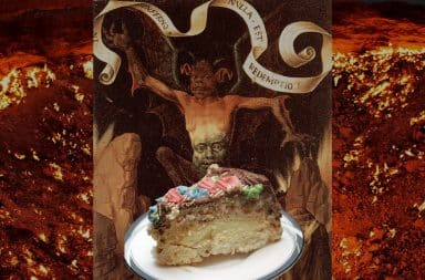 a slice of cake for satan