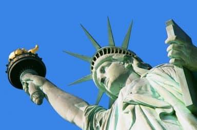 Statue of Liberty sideways photo