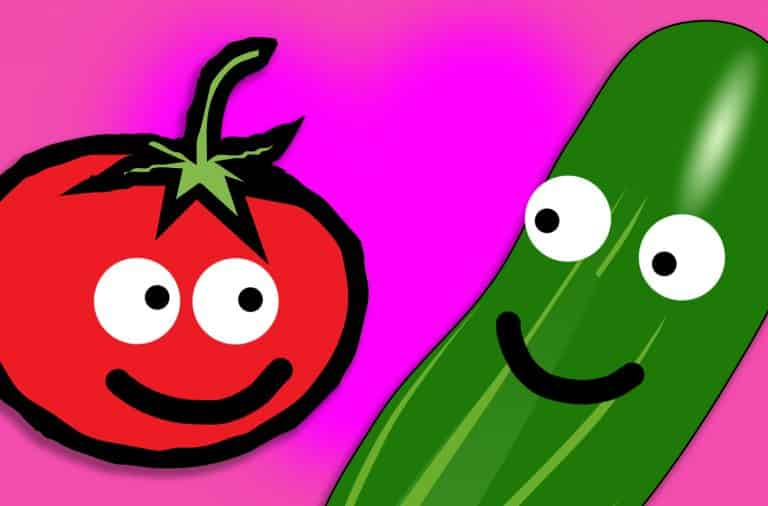 the cucumber and the tomato are in love