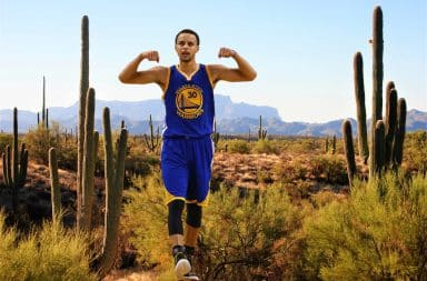 Golden State Warriors NBA cactus Steph Curry