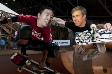 uh oh it's beto and andrew yang is america ready for a skater prez??