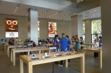 Apple store sells technology