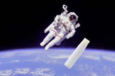 chapstick floats away in space like in the movies