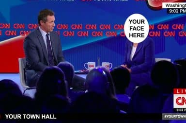 it's your turn to be the CNN town hall