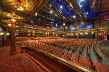 Glamorous theater inside